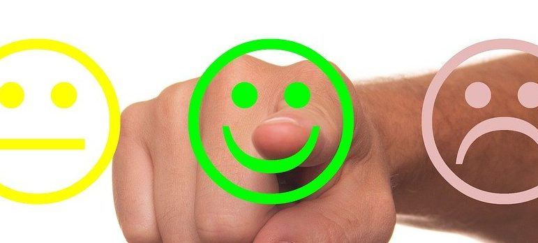 Feedback showing smiley face for a successful moving day