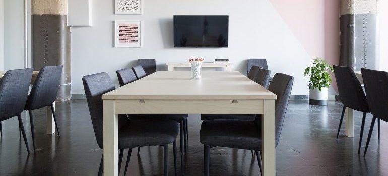 A modern office.